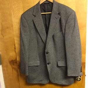 Brooks Brothers Wool blk/wht herringbone blazer